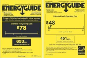 energy guide for old and new refrig 2