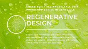 Asheville Fall Workshop Series Promo at Green Built Alliance