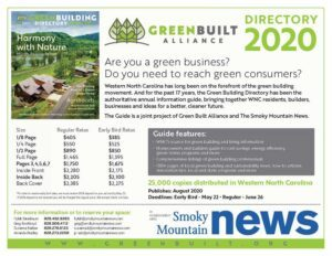Asheville Green Building Directory Ad Rates