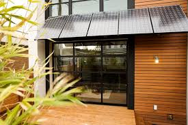 Picture of overhang with integrated PV panel