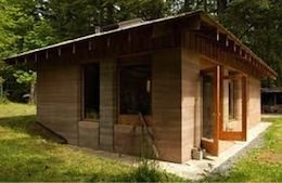 Picture of small home with rammed earth walls