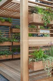 Picture of planter boxes and pergola