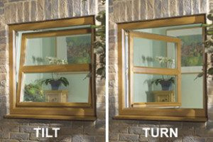 Picture of a tilt and turn window